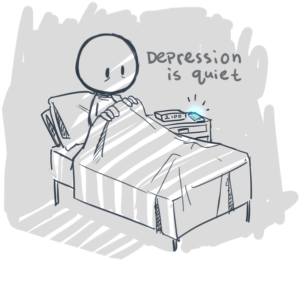 Image result for depression cartoon